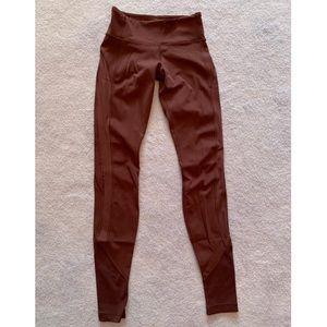 Lululemon burgundy full length leggings